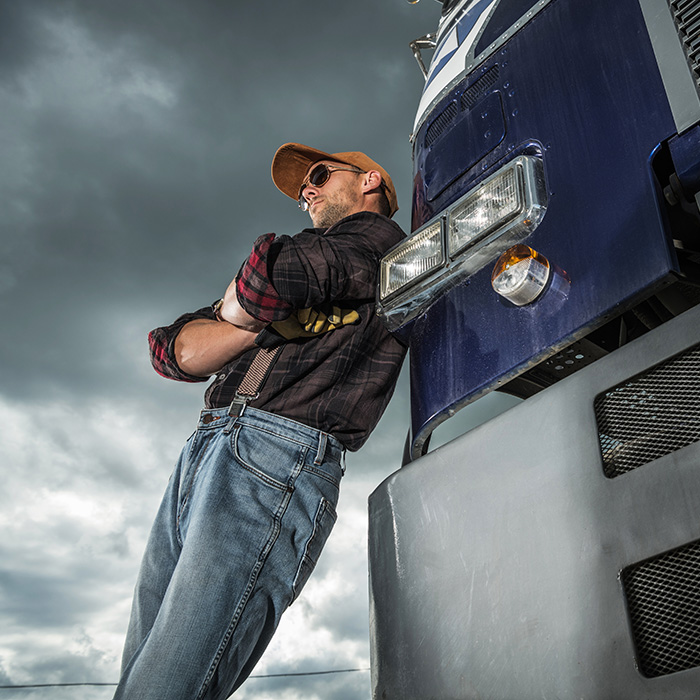 Truck Driver Weathers a storm